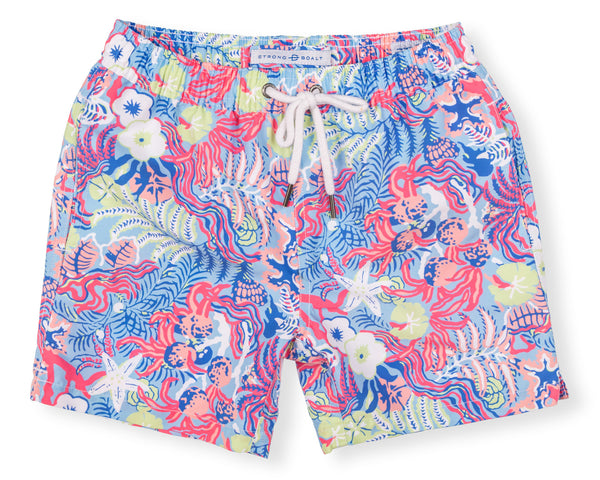 Boys Classic Swim Trunk Undersea - Vivid Blue