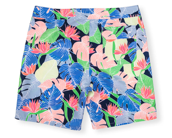 Classic Boardshort Multi Leaf - Navy