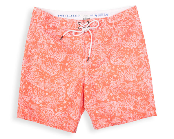 NEW! Classic Boardshort Coral - Day Lily