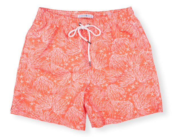 NEW! Classic Swim Trunk Coral - Day Lily