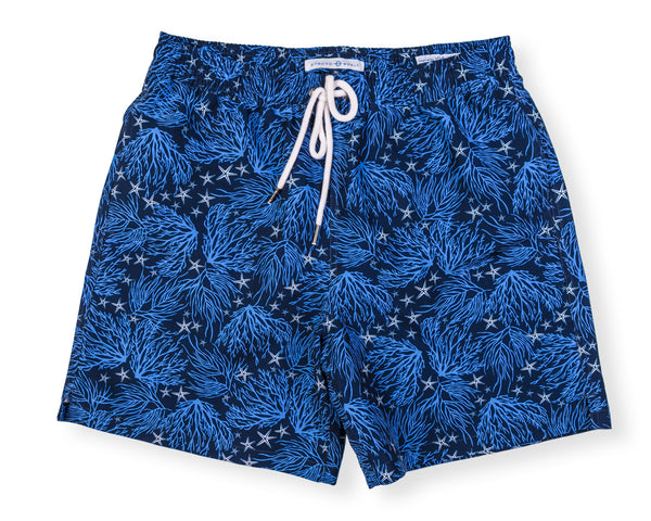 Classic Swim Trunk Coral - Navy