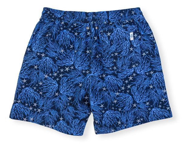 NEW! Classic Swim Trunk Coral - Navy