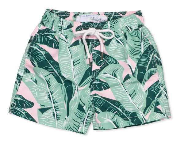 NEW Boys Classic Swim Trunk Beverly Hills Banana Palm - Multi