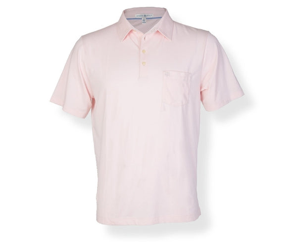The Alexander Pima Cotton Jersey Polo S/S Light Pink