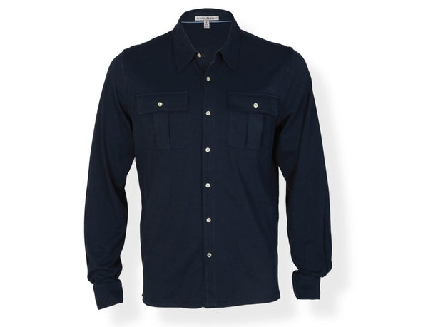 The Cortland Pima Cotton L/S Button Down Navy