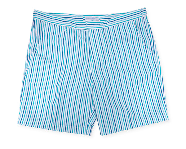 Hybrid Short Blue & White