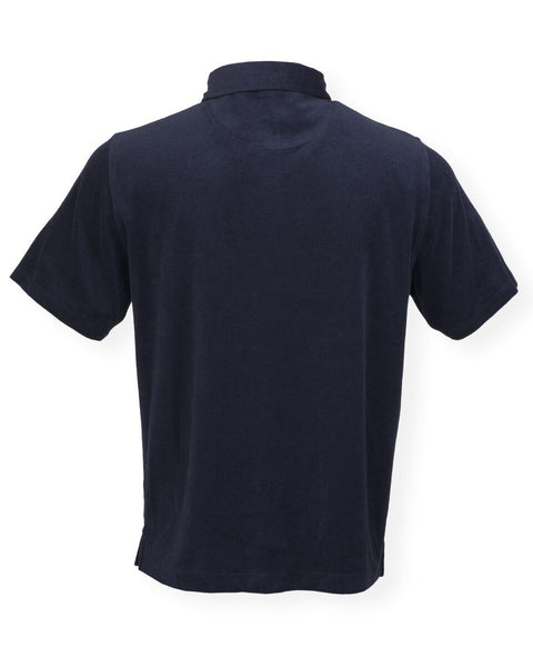 The Ace Terry Cloth Polo - Darkest Indigo