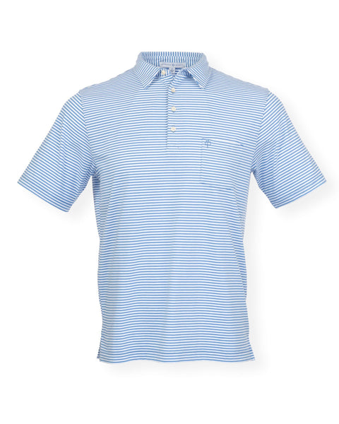 NEW! The Classic Stripe Polo - Delphinium/White