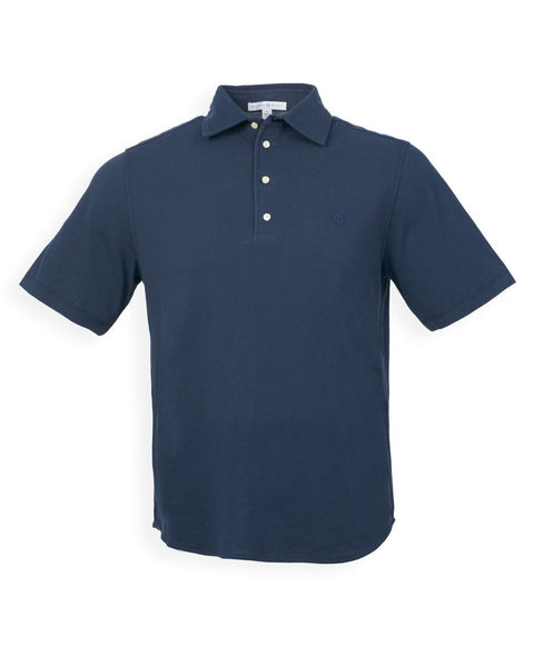 The Adam Pique Polo - Navy