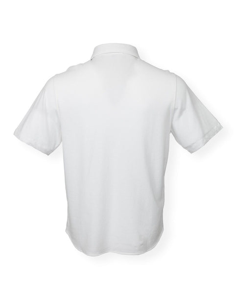 The Adam Pique Polo - White