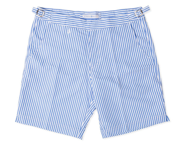 The Hybrid Short 2.0 - Delphinium/White Stripe