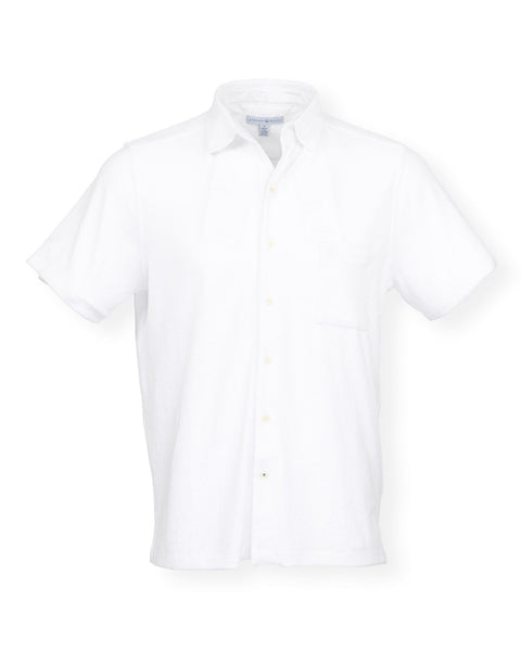 The Bingo Terry Cloth Button Down - White