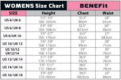 c-skins womens size chart
