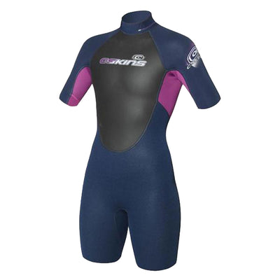 C-Skins Element 3x2 | Jnr Girls Shorti | Navy/Violet
