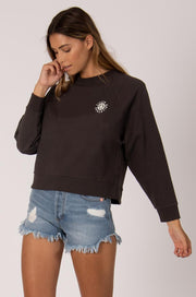 Peace Tropic Knit Pullover | Charcoal