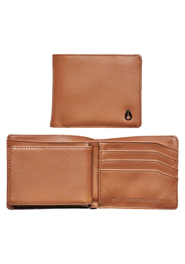Pass Vegan Leather Coin Wallet - Saddle