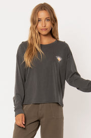 Palm Revolution Long Sleeve Tee - Charcoal