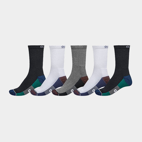 Even Crew Sport Sock 5PK White/Navy/Black