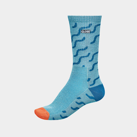 Motion Crew Sock Squiggle Blue