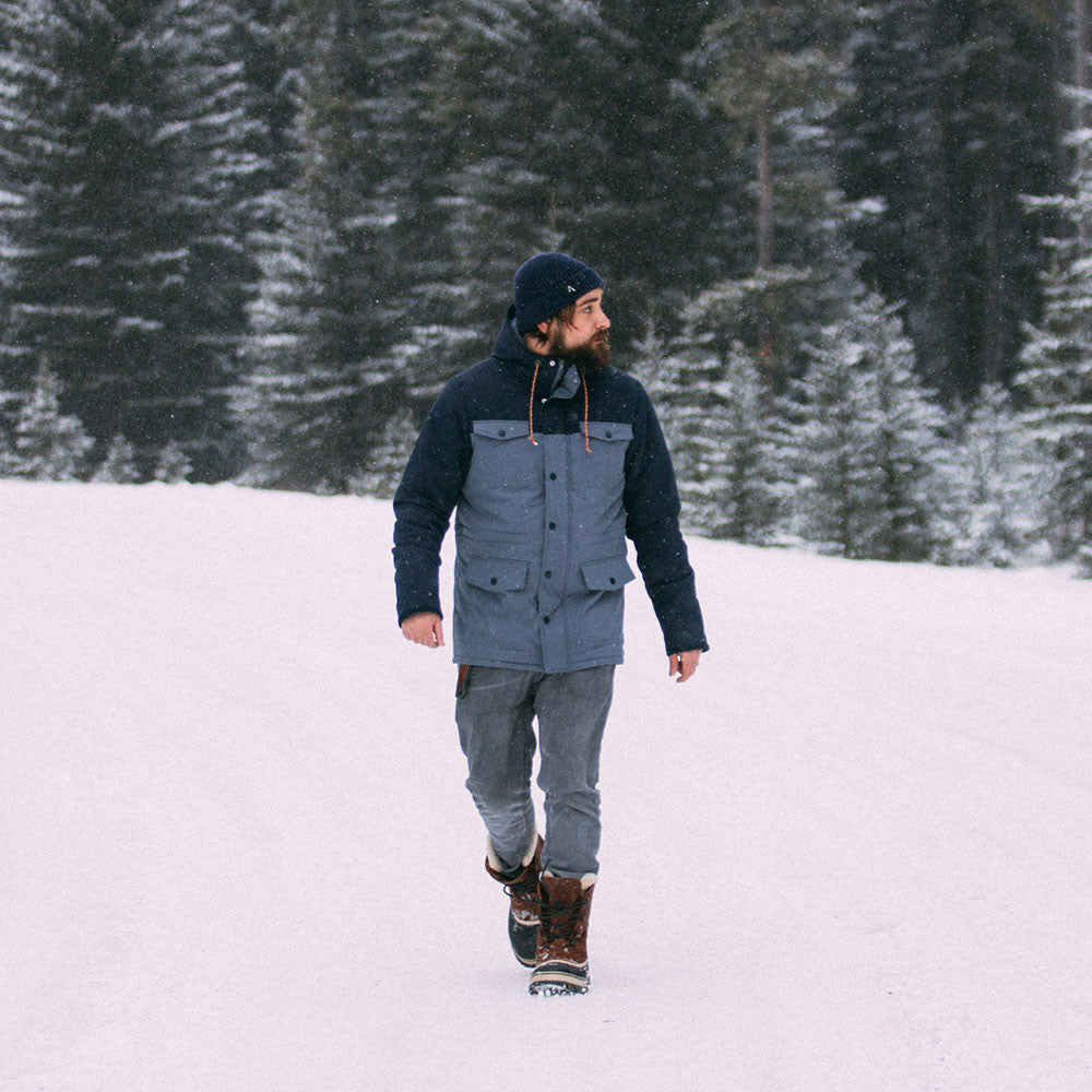 Explorer Parka Jacket | Grey Navy