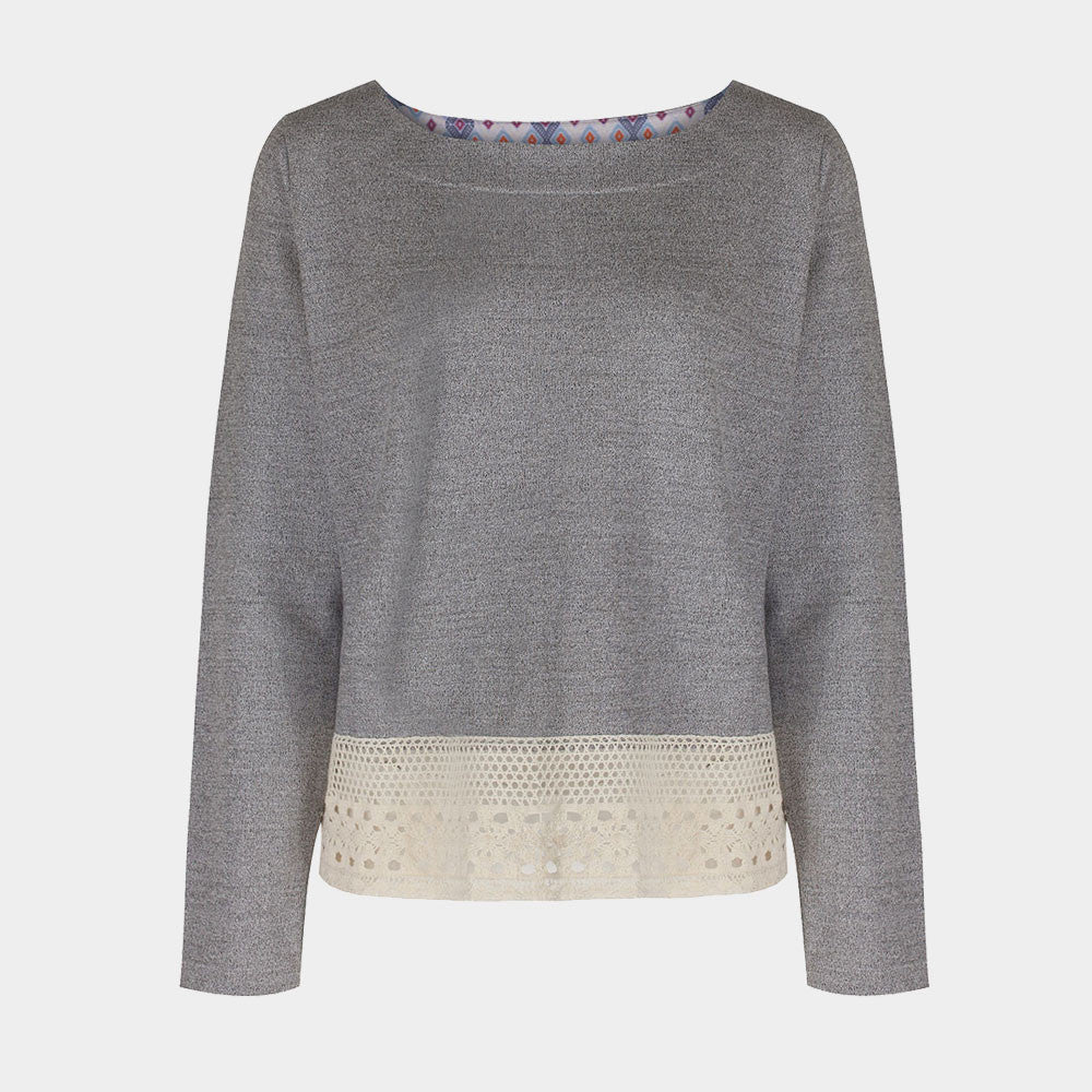 La Rochelle Knit Sweater Grey