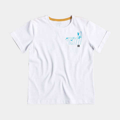 Classic X Ray Pocket T Shirt | White