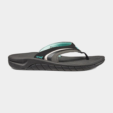 Girls Slap 3 Flip Flops | Black/Black/Aqua