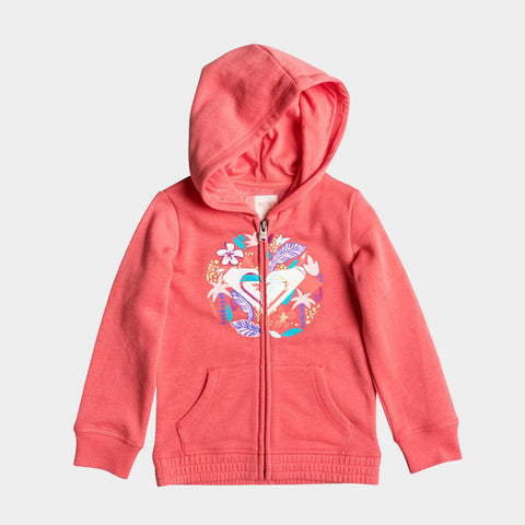 Ladys Eardrop Zip Up Hoodie | Sugar Coral Heather