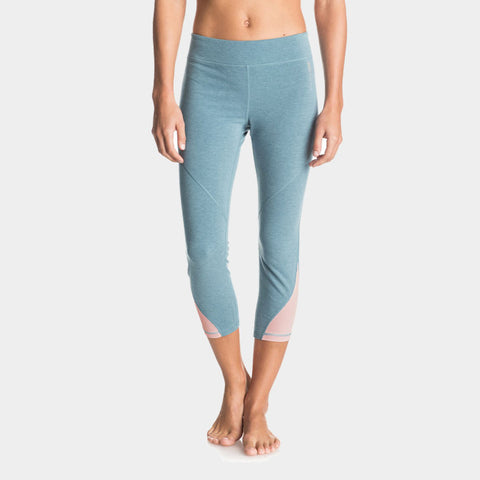 Imanee Heather Sports Capri Pant | Captains Blue Heather