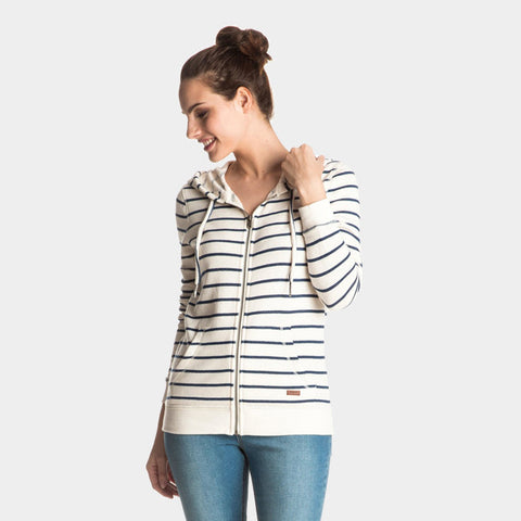 Signature Stripe Zip Up Hoodie | Marshmellow Signature