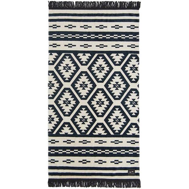 Surf Shop, Surf Accessories, Slowtide, Taos, Towel, Black/Off White