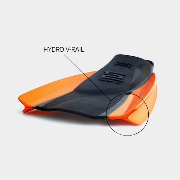 Surf Shop, Surf Accessories, Surf Hardware, Hydro, Tech 2 Fin, Bodyboard Fins, Black/Orange
