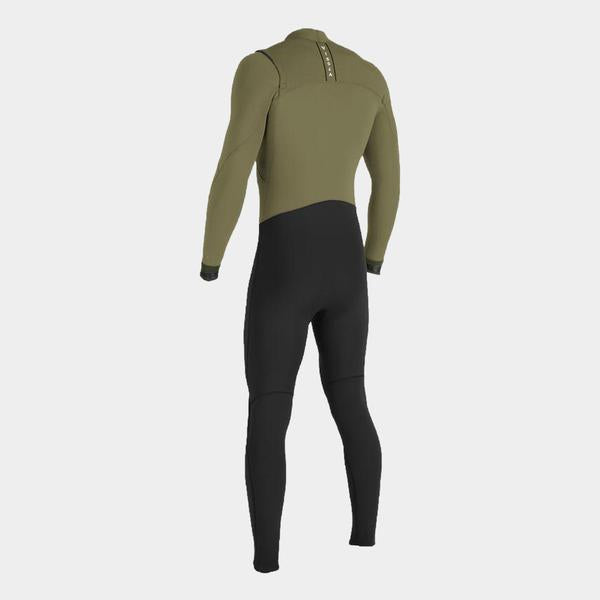 Surf Shop, Surf Accessories, Vissla, 7 Seas 4/3 Full 50/50 Chest Zip, Wetsuit, Dark Khaki