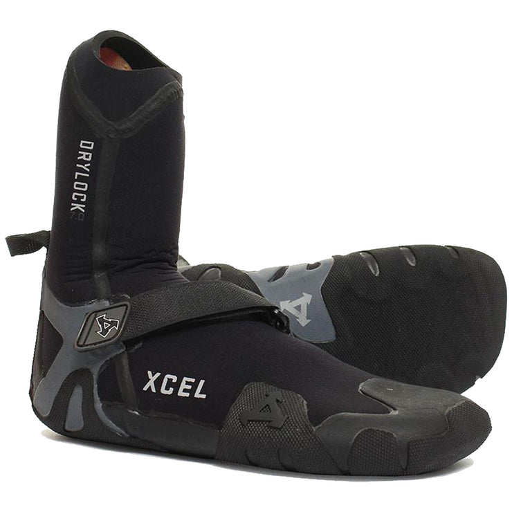 Surf Shop, Surf Accessories, Xcel, 7mm Round Toe Drylock Boot, Wetsuit Boots, Black