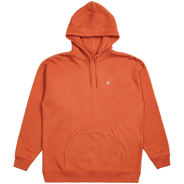 Surf Shop, Surf Clothing, Brixton, B-Shield Intl Pullover Hood, Hoodie, Henna