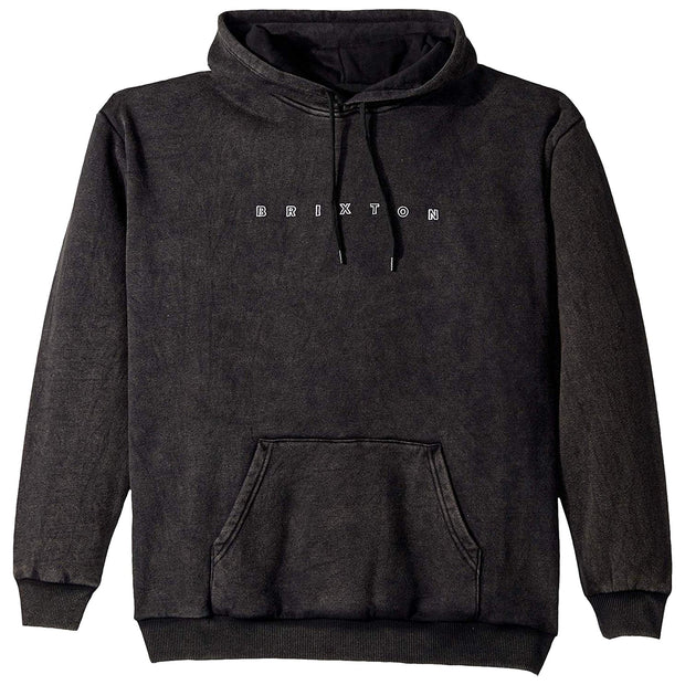 Surf Shop, Surf Clothing, Brixton, Cantor Pullover Hood, Hoodie, Black Acid Wash