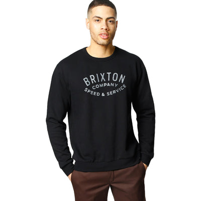Surf Shop, Surf Clothing, Brixton, Gasket Crew Fleece, Sweatshirts, Black