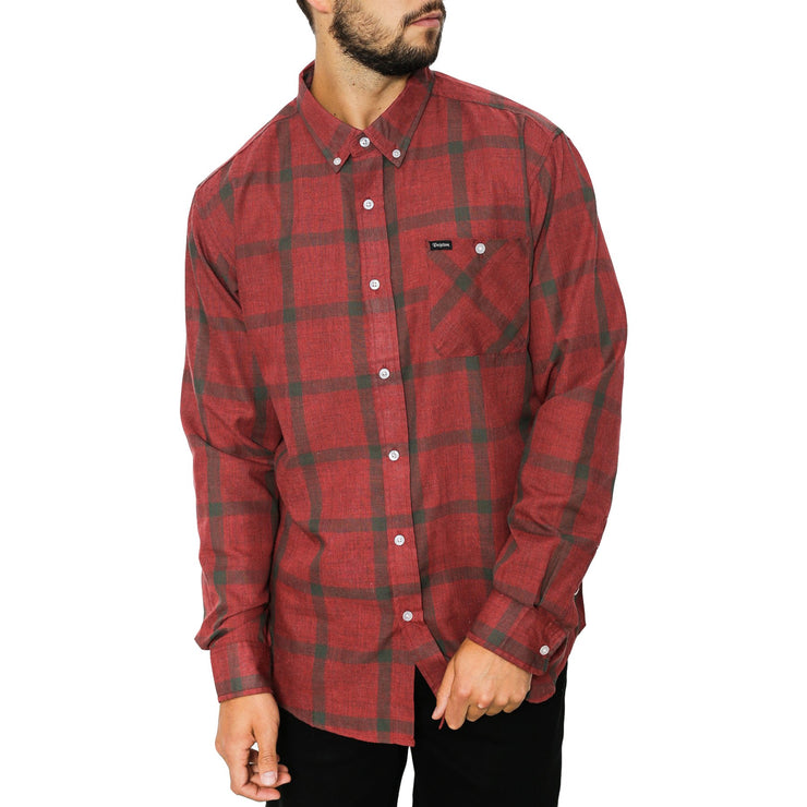 Surf Shop, Surf Clothing, Brixton, Howl LS Flannel, Shirts, Brick/Steel