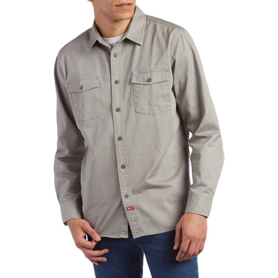 Surf Shop, Surf Clothing, Brixton, Olson LS Woven Shirt, Shirts, Light Grey