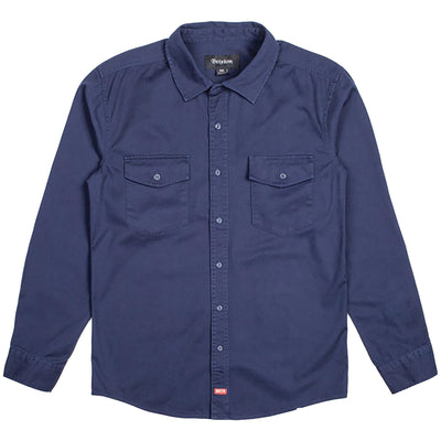 Surf Shop, Surf Clothing, Brixton, Olson LS Woven Shirt, Shirts, Navy