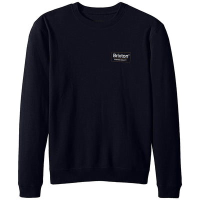 Surf Shop, Surf Clothing, Brixton, Palmer Crew Fleece, Sweatshirts, Navy