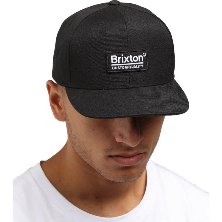 Surf Shop, Surf Clothing, Brixton, Palmer MP Snapback, Hats, Black
