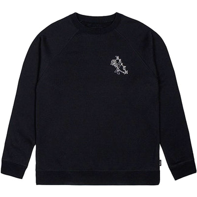 Surf Shop, Surf Clothing, Brixton, Rosa Crew Fleece, Sweatshirts, Black