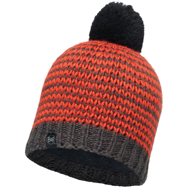 Surf Shop, Surf Clothing, Buff, Dorn Cru Knitted Hat, Hats, Flame/Grey Vigore