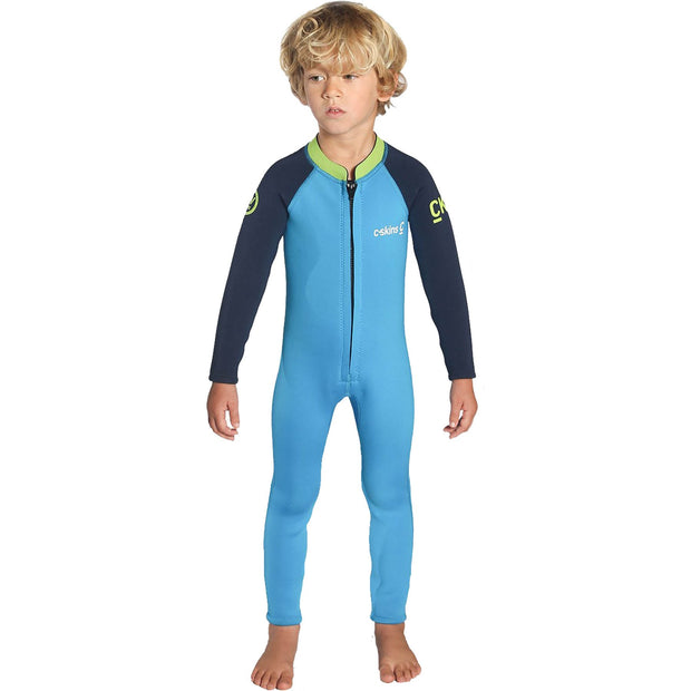 Surf Shop, Surf Clothing, C-Skins, Baby Shorti, Wetsuit, Cyan/Navy/Lime