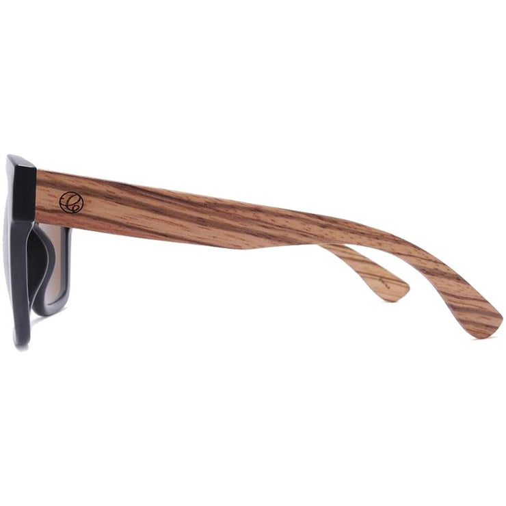 Surf Shop, Surf Clothing, Crush Eyes, Sooner Or Later Wood, Sunglasses, Black With Chestnut Temples/Bronze