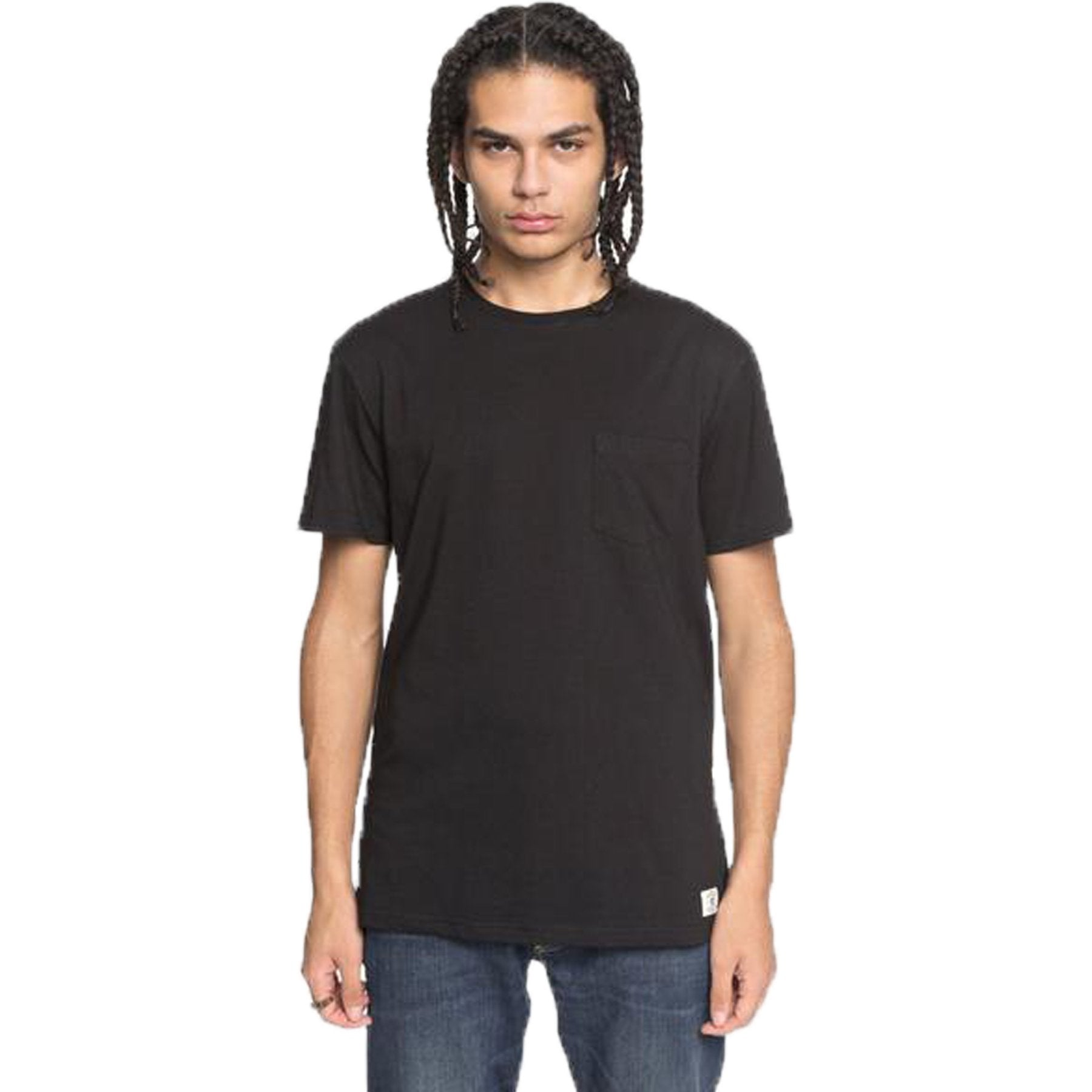 Surf Shop, Surf Clothing, DC Shoes, Basic Pocket, Tshirt, Black