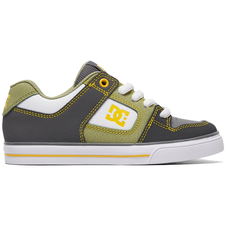 Surf Shop, Surf Clothing, DC Shoes, Pure, Shoes, Grey/White/Yellow