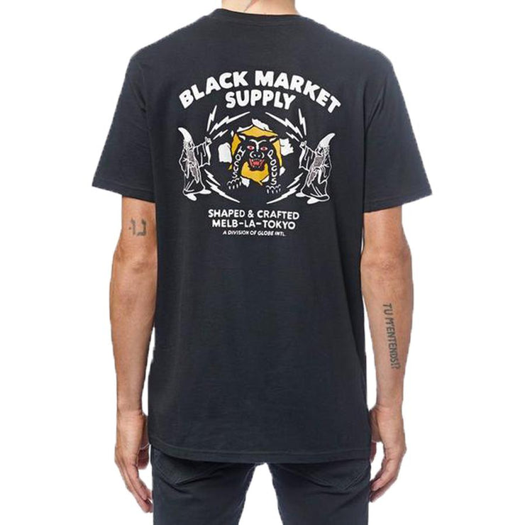 Surf Shop, Surf Clothing, Globe, Black Market Tee, Tshirt, Black