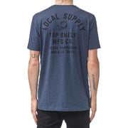Surf Shop, Surf Clothing, Globe, Courier Tee, Tshirt, Bruise Blue Marle